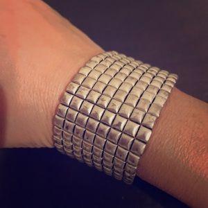 Kennet Cole Silver Stretch Bracelet